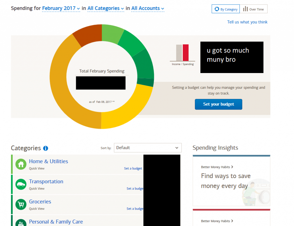 bank of america s new budget tool is cool after economics